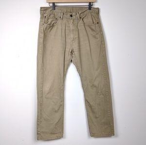 Levi's Tan 505 Jeans, 34x30